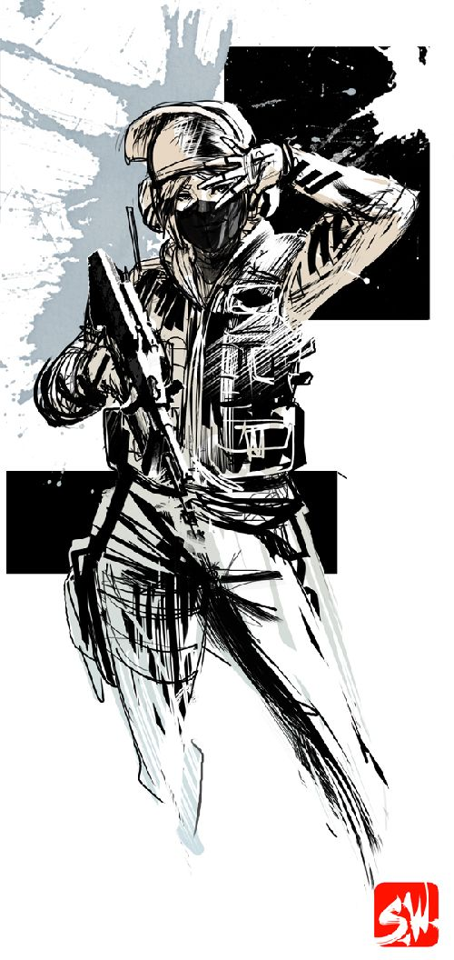 Rainbow Six Siege S Operator Blackbeard S Icon With Added Detail