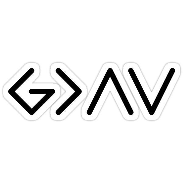 'GOD is Greater than the ups and downs ' Sticker by Amos Voltz