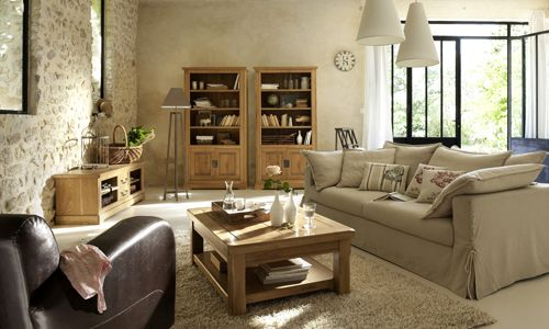 Salon campagne chic coaching deco but quartier maison for Decoration interieur maison de campagne