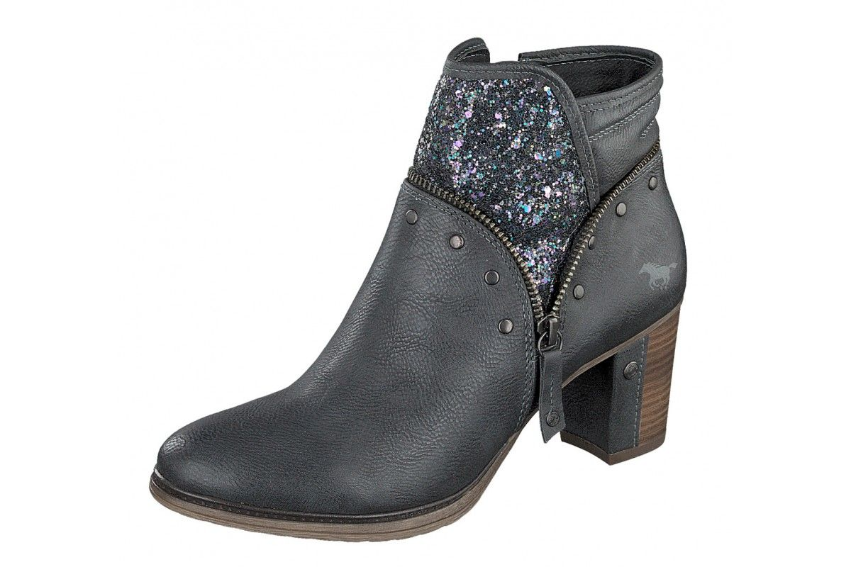 2016 Gray Mustang Ankle Boots Leather Ladies