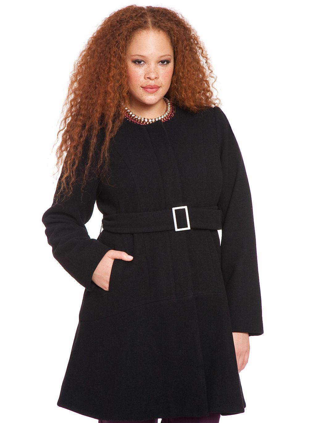 Studio Skirted Dress Coat | Women\'s Plus Size Jackets | ELOQUII ...