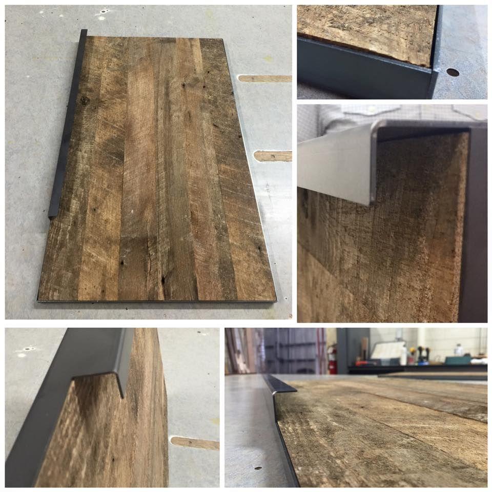 Reclaimed Wood Cabinet Doors reclaimed wood as cabinet doors. great mix of metal & wood. this