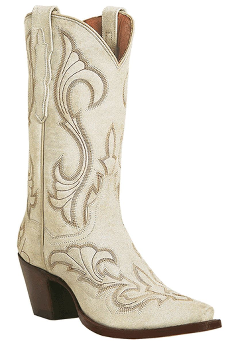 White Leather Cowgirl Boots - Yu Boots