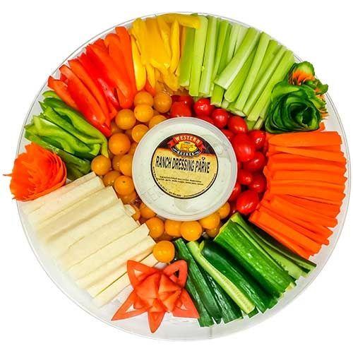 Fresh Cut Vegetable Platter Large | Cut Fruits and