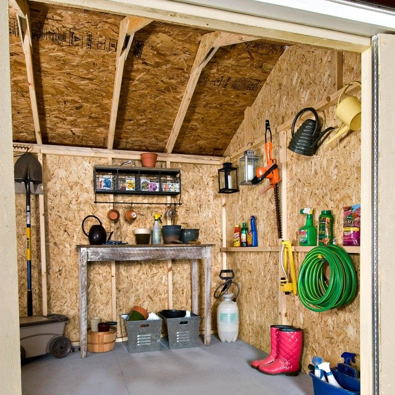 Handy Home Avondale 10x8 Wood Storage Shed Kit With Floor And Window 18242 6 Storage Shed Kits Shed Kits Wood Storage Sheds