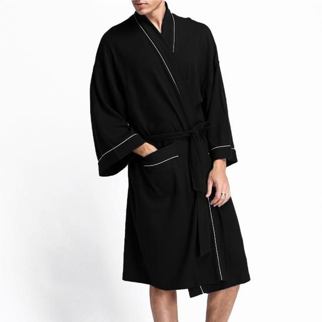d012039886 Hot sale 100% Waffle cotton long-sleeve couples bathrobes simple hotels SPA  robes for