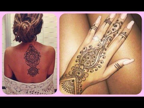 Como Hacer Tatuajes Temporales Caseros Sin Henna Youtube Lugares