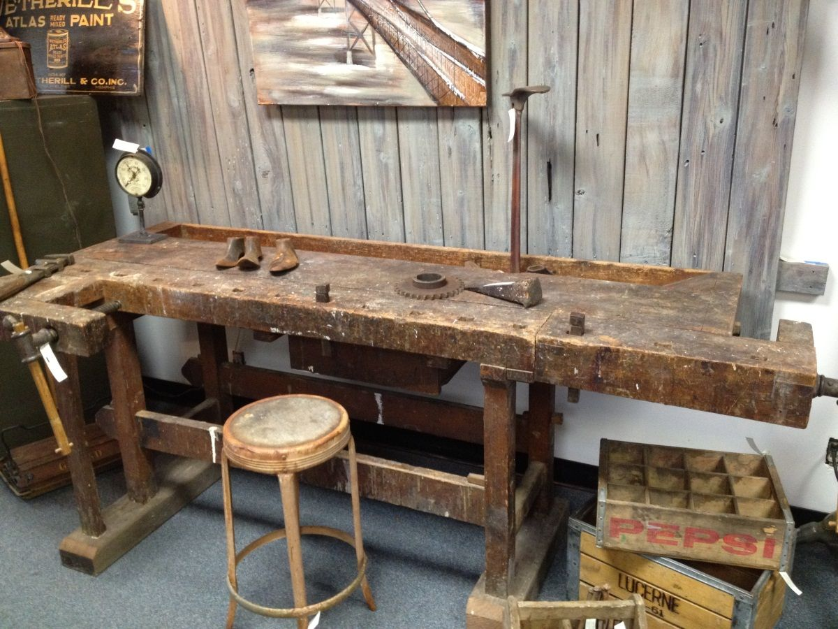 Unique Antique Woodworking Workbench At 1stdibs