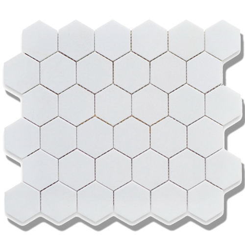 Cc Mosaics Matte Hexagon White Matte Mosaic 2x2 With Images