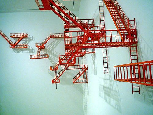 escape ladder art