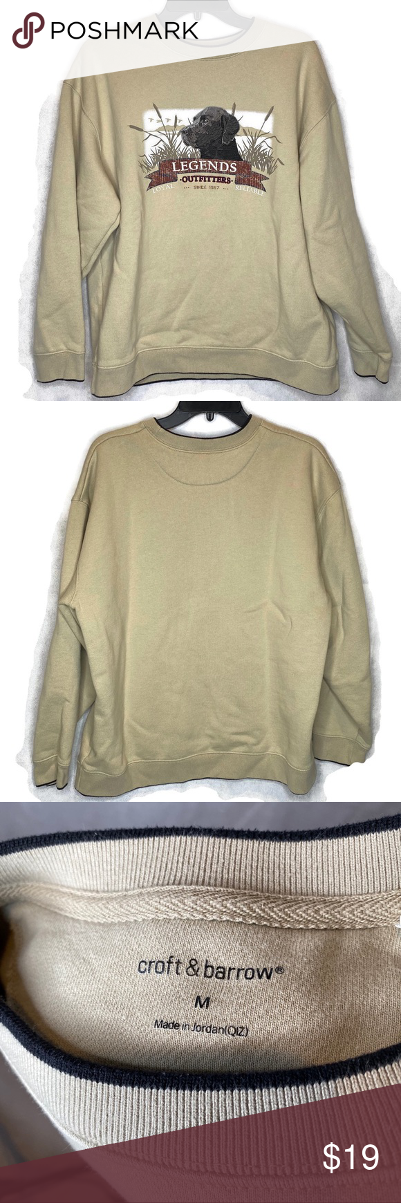 Croft Barrow Embroidered Black Lab Sweatshirt Sweatshirts Sweatshirt Shirt Sweatshirts Hoodie [ 1740 x 580 Pixel ]