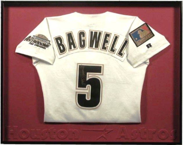 Bradley\'s custom framed Houston Astros Bagwell Jersey   Sports ...