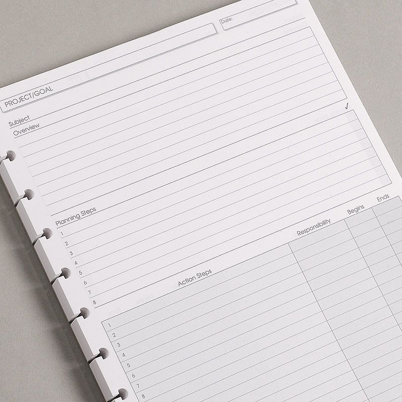 Circa Project Planner Refills Letter  Circa Refills