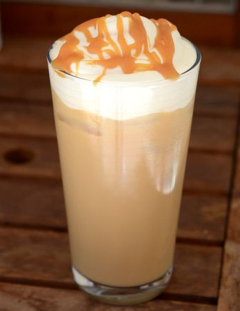 9873856991e Salted Caramel Iced Coffee | Brewed Daily Treat yourself to a homemade iced  coffee! Perfect afternoon treat in the summer!