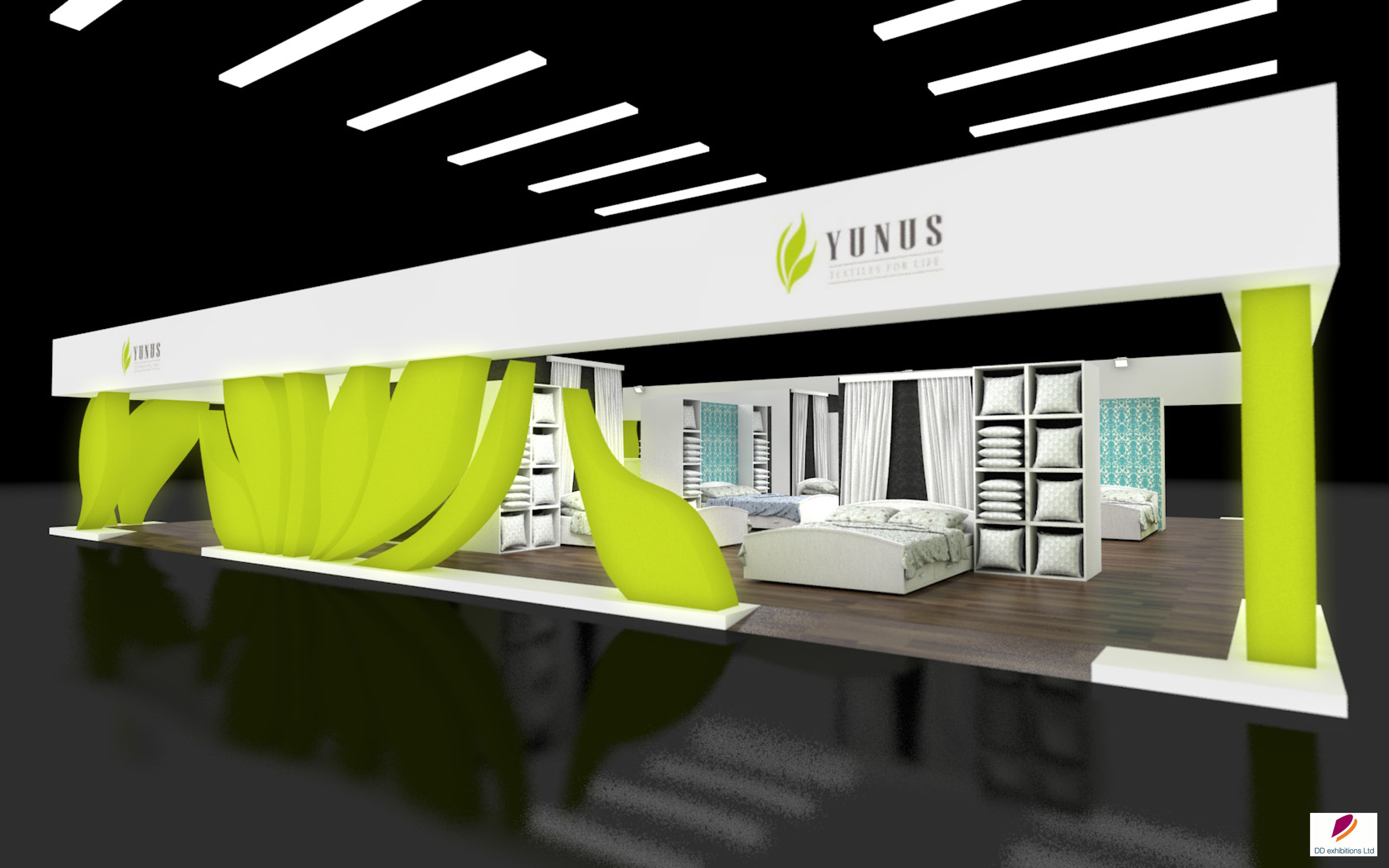 Fabric Exhibition Stand Design : Exhibition stand design created for yunus