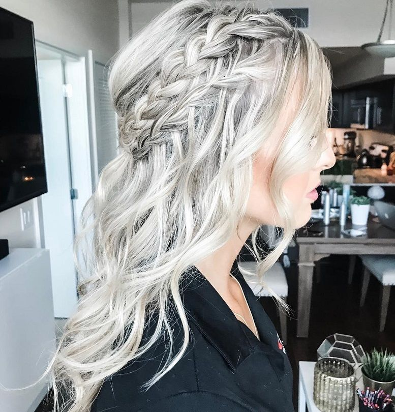 Braids Half Up Half Down Hairstyle Boho Hairstyle Updo Wedding Hairstyles Hair Hairstyles Wedding Hair Half Down Hairstyles Bride Hairstyles