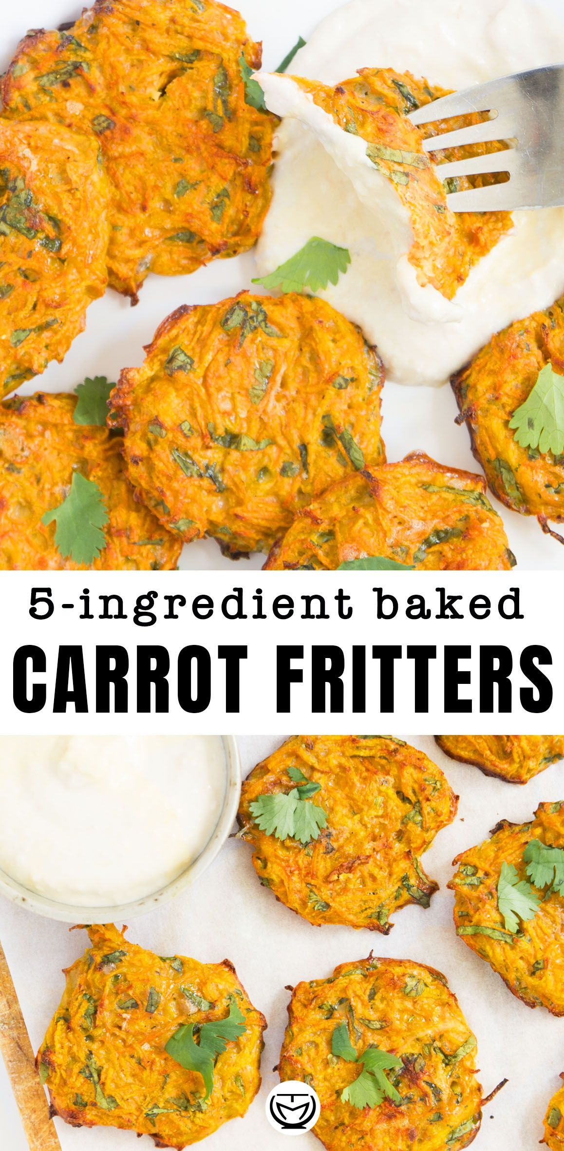 5-ingredient healthy carrot fritters images