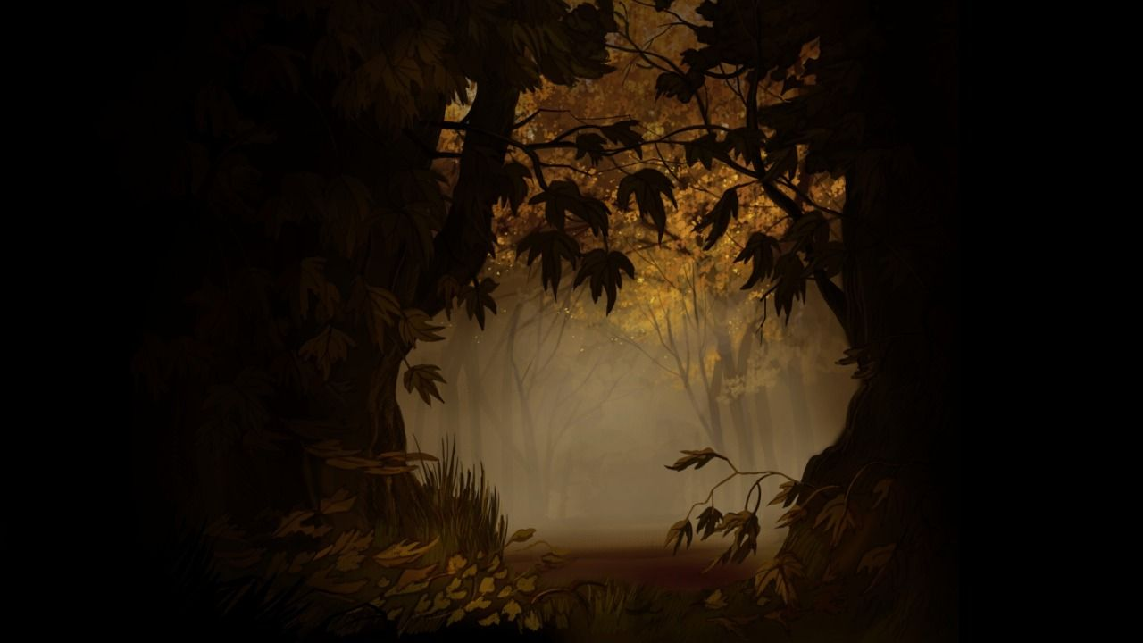Nick Cross — Some backgrounds I designed and painted for Over... | Over the garden wall, Garden wall, Wall background