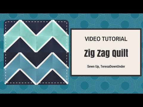 Video tutorial: quick and easy Zig zag quilt - YouTube