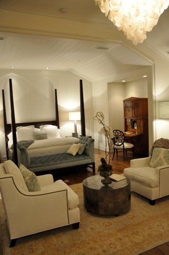 love the conversation area at the foot of the bed dream home rh pinterest com