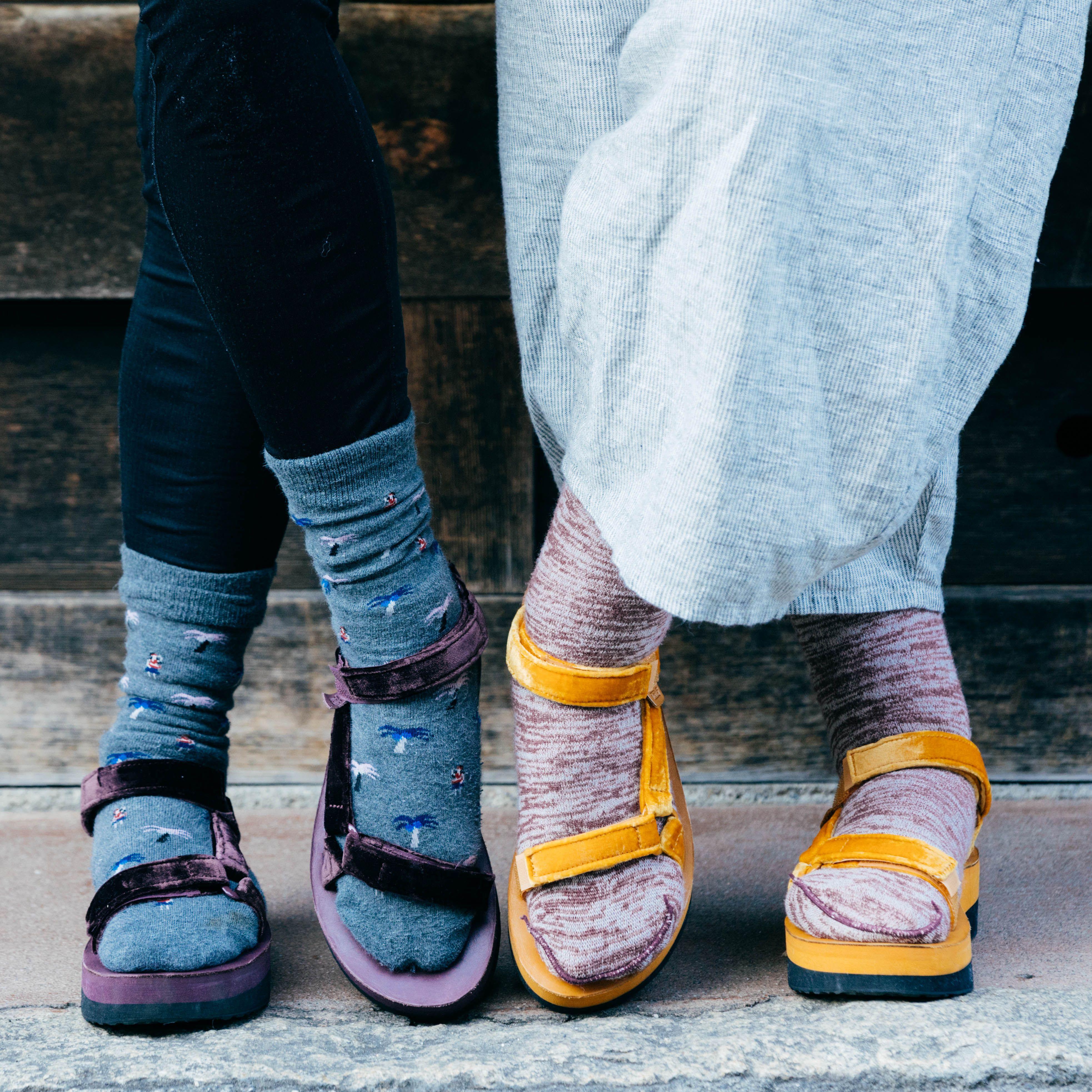 2268ad0854b Velvet like you ve never seen it before. Make room in your closet for the  Flatform Universal Velvet sandal.