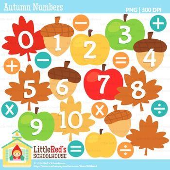 Fall Numbers Clipart | Clip art, Art, Autumn theme