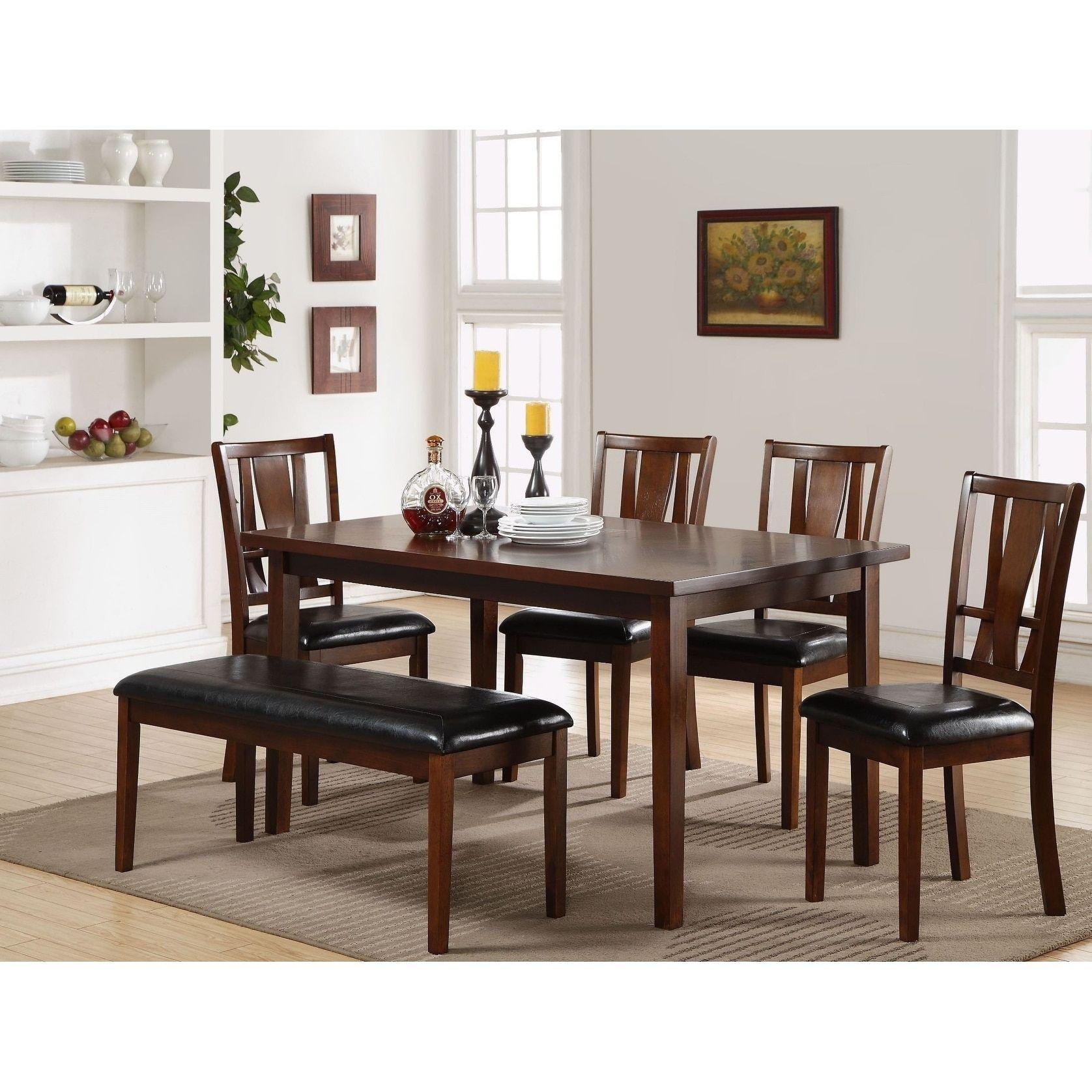 Strange Dixon Dark Espresso Standard Table 6 Piece Set Dining Black Creativecarmelina Interior Chair Design Creativecarmelinacom