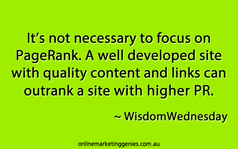Wisdom Wednesday   Not All About PageRank