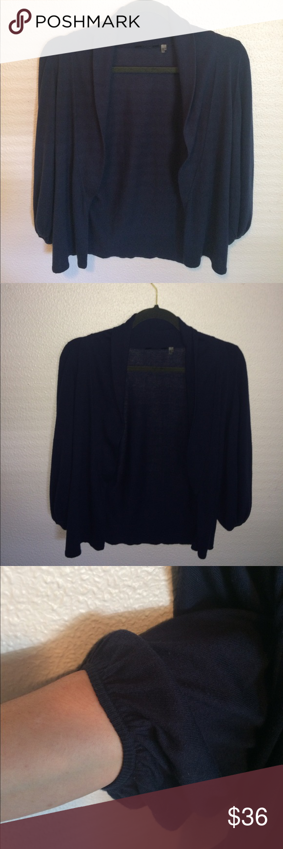 Elie Tahari navy cardigan/wrap sweater, XS/TP | Sweater cardigan ...