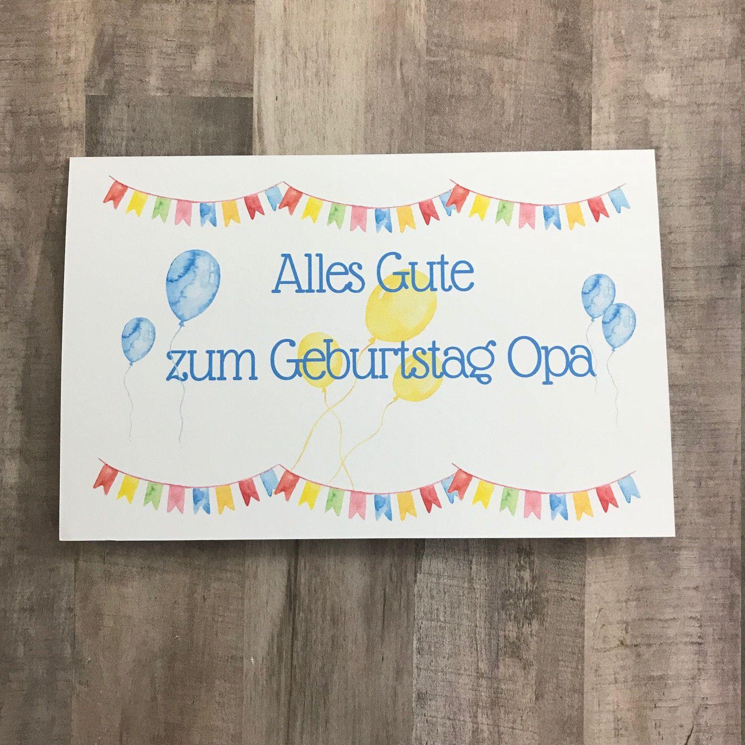 Alles Gute Zum Geburtstag Opa Printable Birthday Card For Etsy In 2021 Happy Birthday Cards Diy Birthday Cards Diy Birthday Card Printable