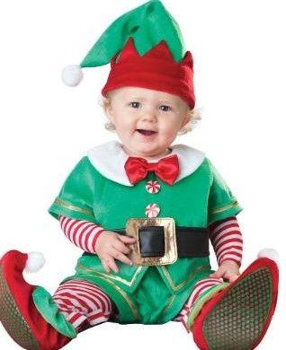 Santa/'S Lil/' Helper Stripe Elf Baby Infant Christmas Costume