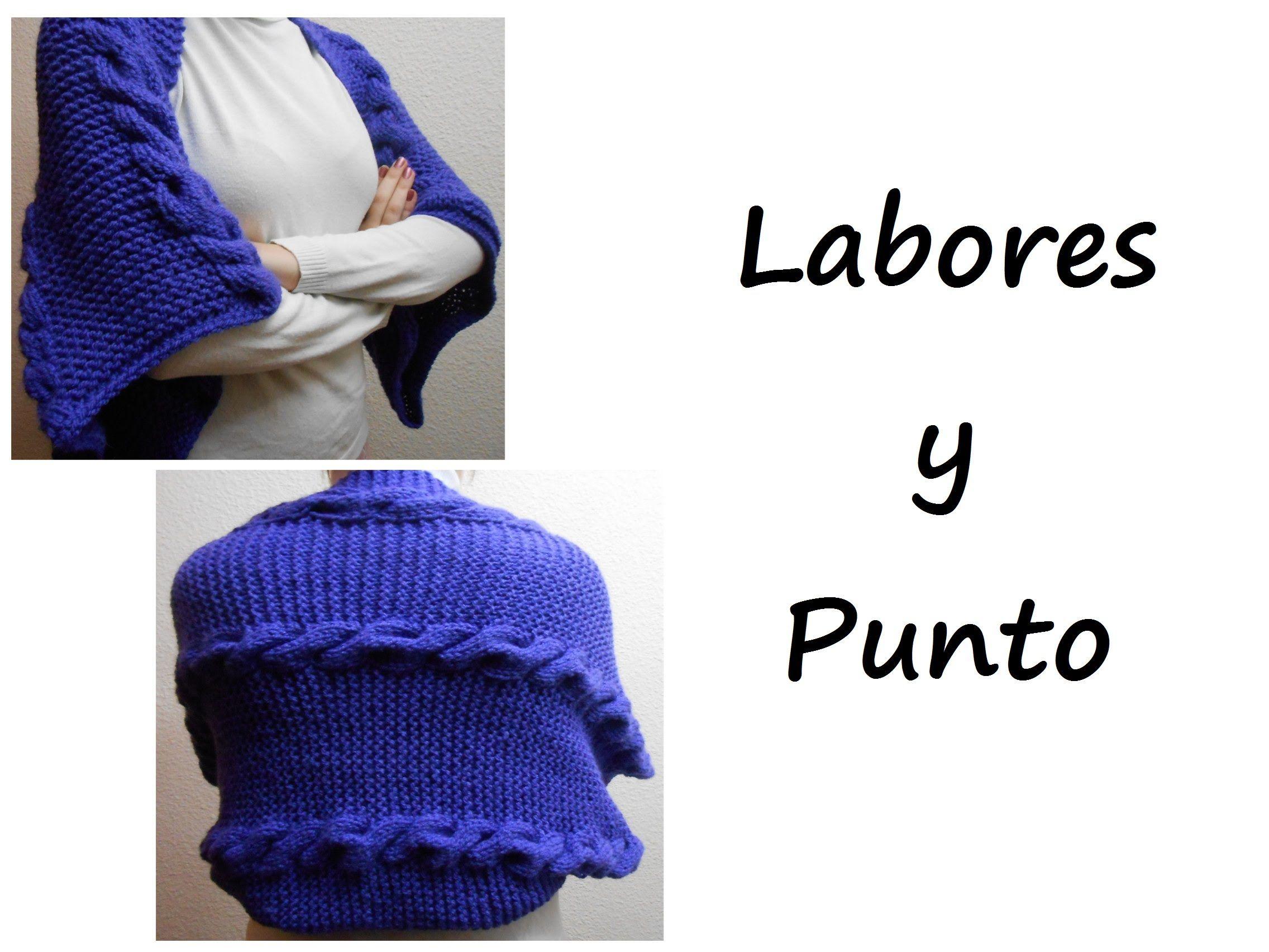 Aprende a tejer un chal con mangas en dos agujas | Etol,Bolero,Panço ...