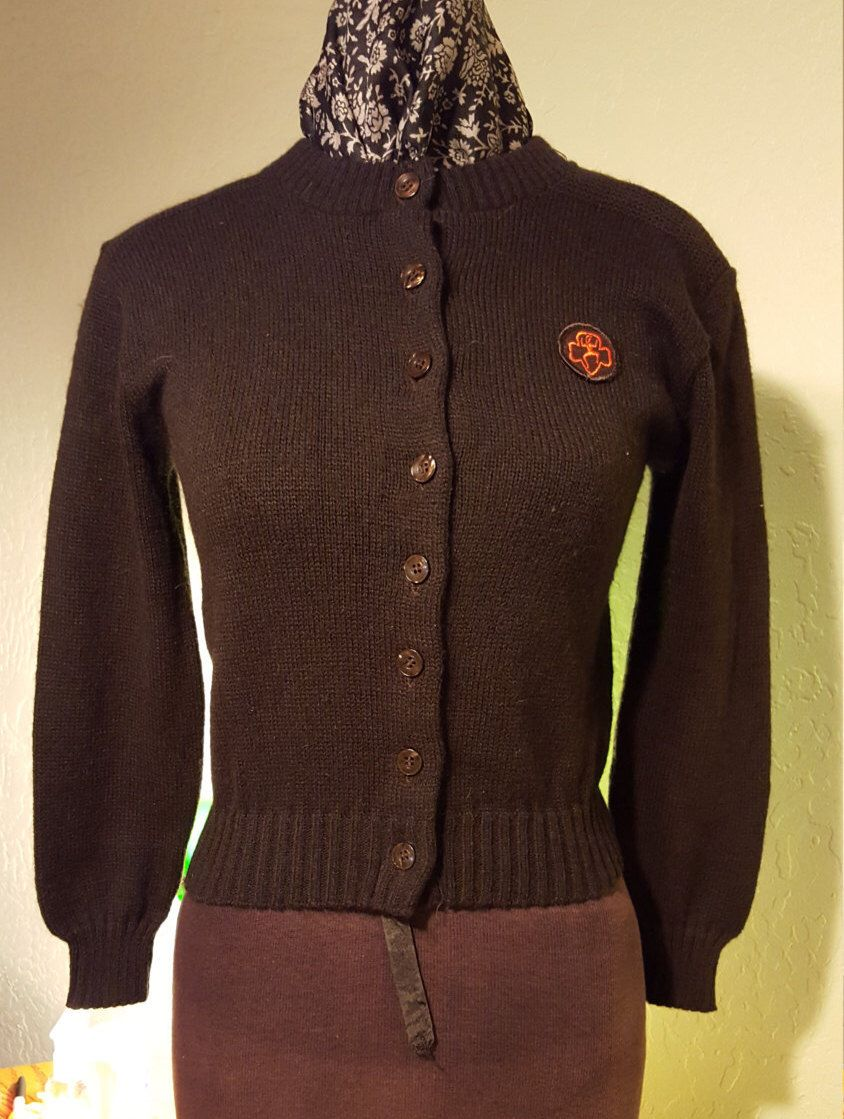 Vintage Girl Scouts Chocolate Brown Cardigan | Scout, Le ragazze d ...