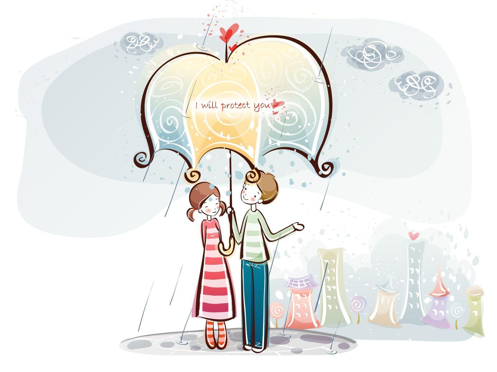 Fondos De Pantalla Animados De San Valentín: Fondos De Pantalla De Dibujos Animados De San Valentín (1