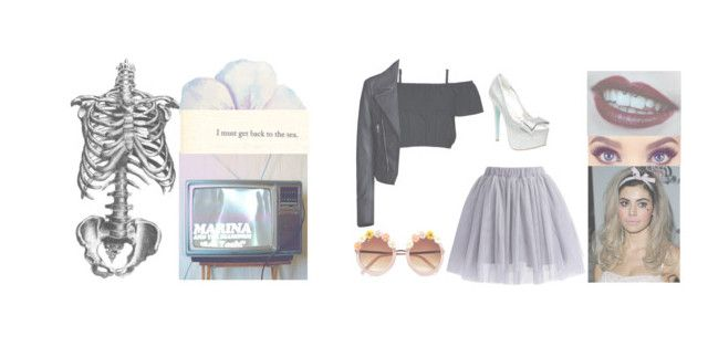 """Teen Idle - Marina and the Diamonds"" by princxssamiel ❤ liked on Polyvore featuring Chicwish, Balenciaga, River Island and Betsey Johnson"