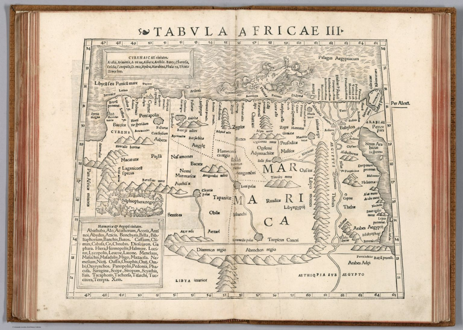 Woodcut Uncolored Rd Map Of Northern Africa And The - Map of egypt with cities and towns