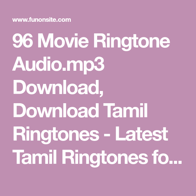 tamil female voice ringtone download