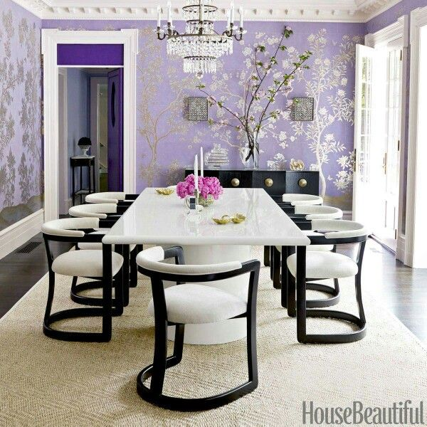 House Beautiful Purple Dining Room Unique Dining Room