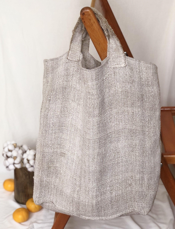 Excited to share this item from my #etsy shop: Natural Linen Shopping Bag , Zipper Tote Bag, Burlap Tote Bag, Rustic Shoulder Bag, Eco-Friendly Tote Bag, Big Linen Tote, Rough Linen Bag #grey #thicklinenbag #zipperlinenbag #travellinenbag #beachtotebag #largegrocerytote #reusablelinenbag #grocerytote #grayshoppingbag