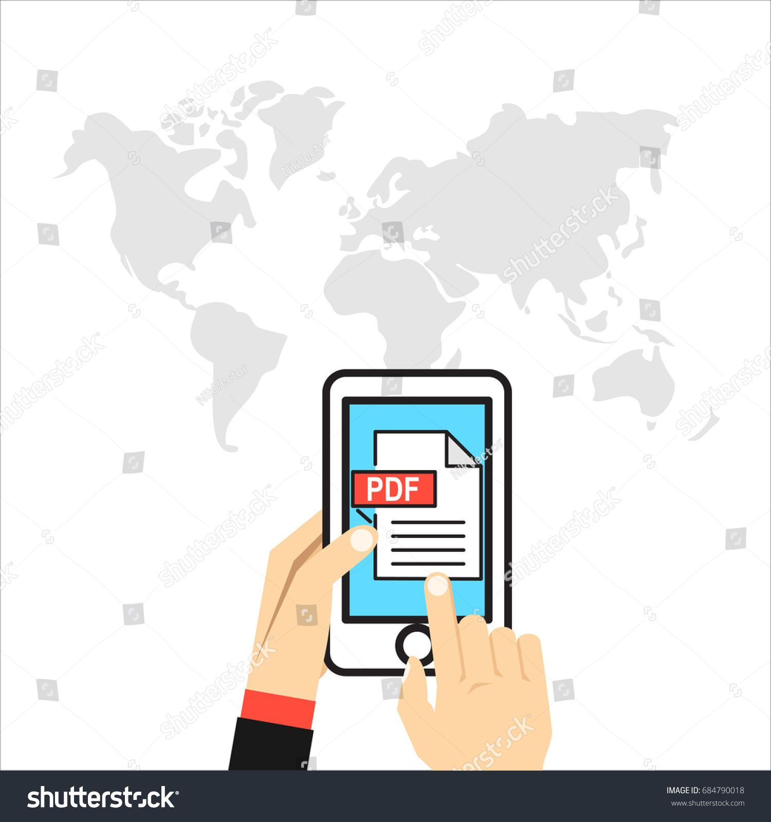 Pdf File On Smartphone Screen Hand Holds Phone Finger Touches Screen Read Download View Pdf On Mobile Devi In 2020 Ebook Design Social Media Design Graphics Ebook How to read pdf on mobile