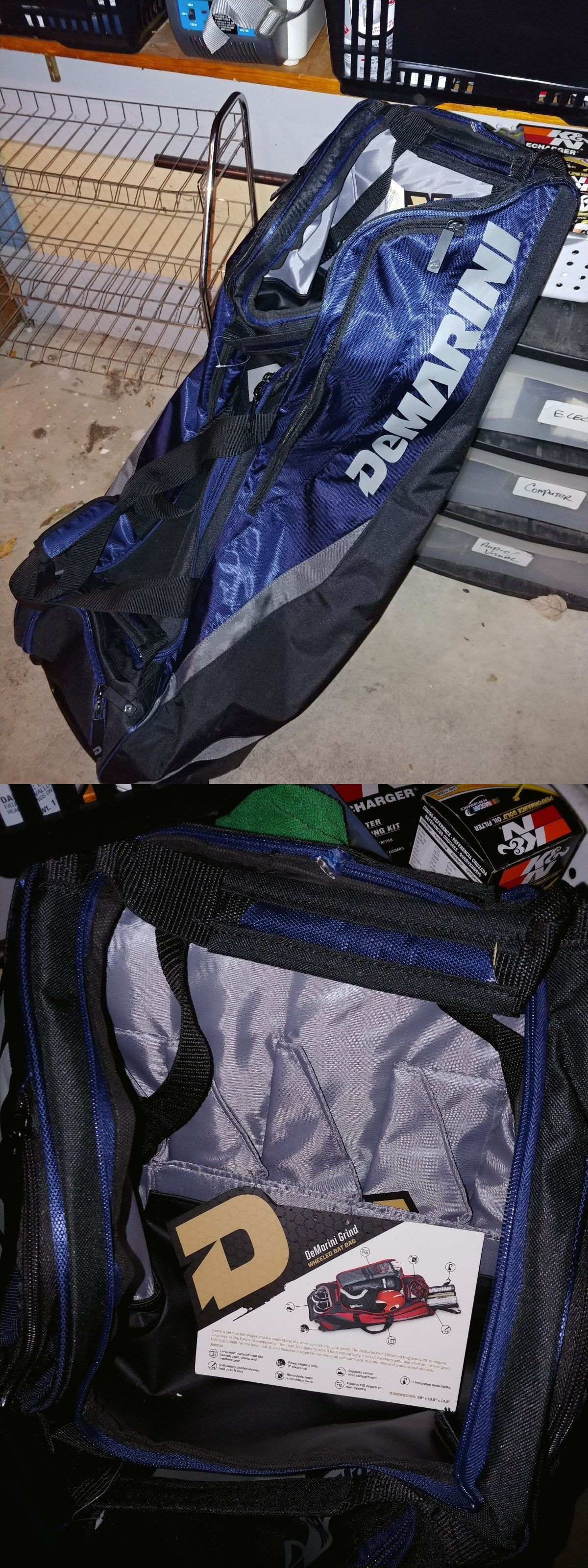 Equipment Bags 50807 Demarini Grind Baseball Softball Wheel Bag Blue Catcher S 4 Bats Blemish It Now Only 70 On Ebay