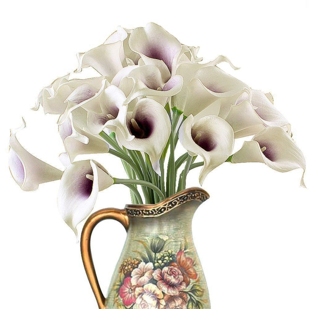 Aliexpress comprar real touch mini pu calla lily flores cheap decor flower vase buy quality decorative flower garland directly from china flower door decoration suppliers hot sale calla lily bridal wedding izmirmasajfo