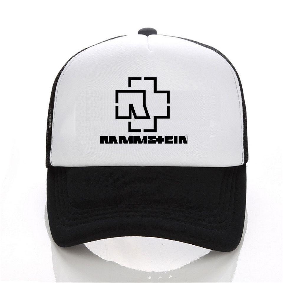 640db9538 Rammstein Print Funny Snapback cap Mens trucker cap and Rammstein Baseball  cap Men Luxury Summer #Affiliate