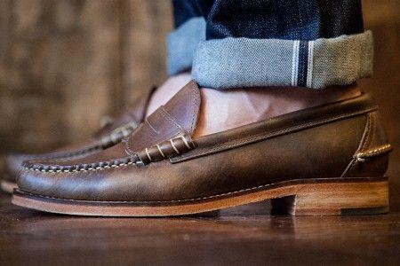 3c5b4ba14ac Oak Street Bootmakers Beefroll Penny Loafer Natural Chromexcel ...