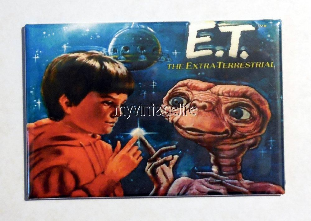 "Vintage ET The xtra-Terrestrial Lunchbox 2"" x 3"" Fridge MAGNET"