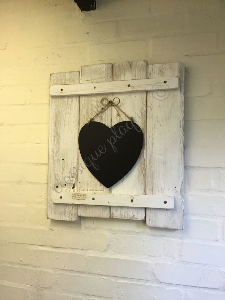 Rustic shabby chic wall decor /chalkboard (43.00 GBP) by ...