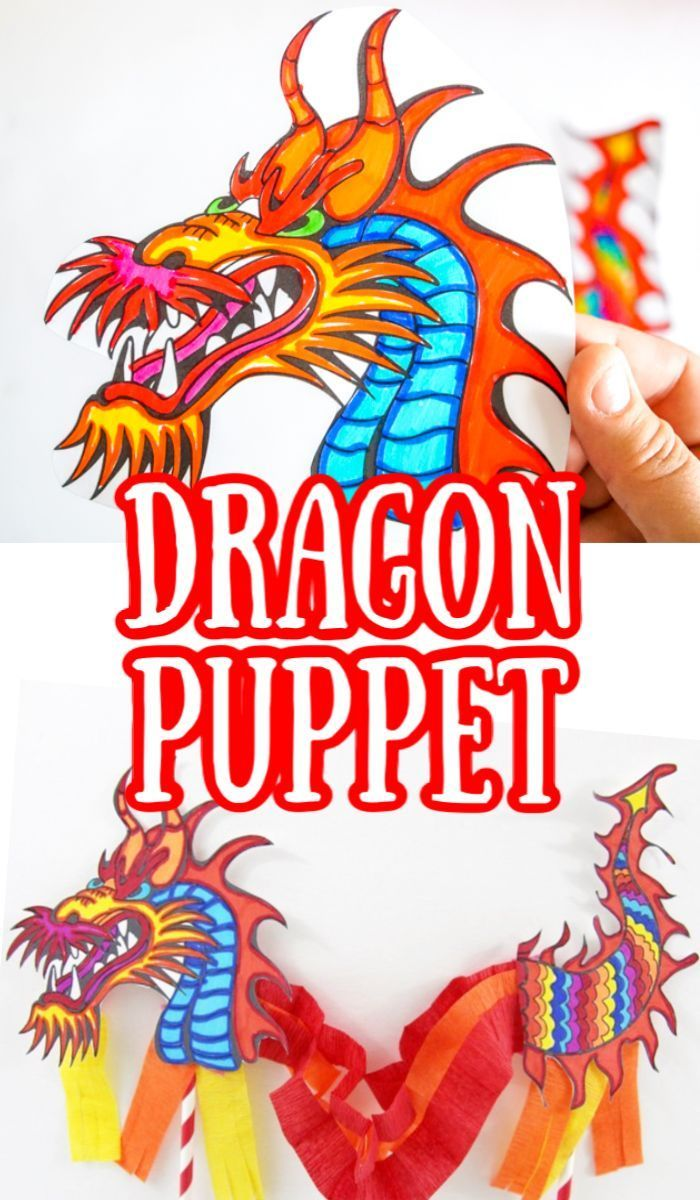 Chinese Dragon Puppet - Made with HAPPY
