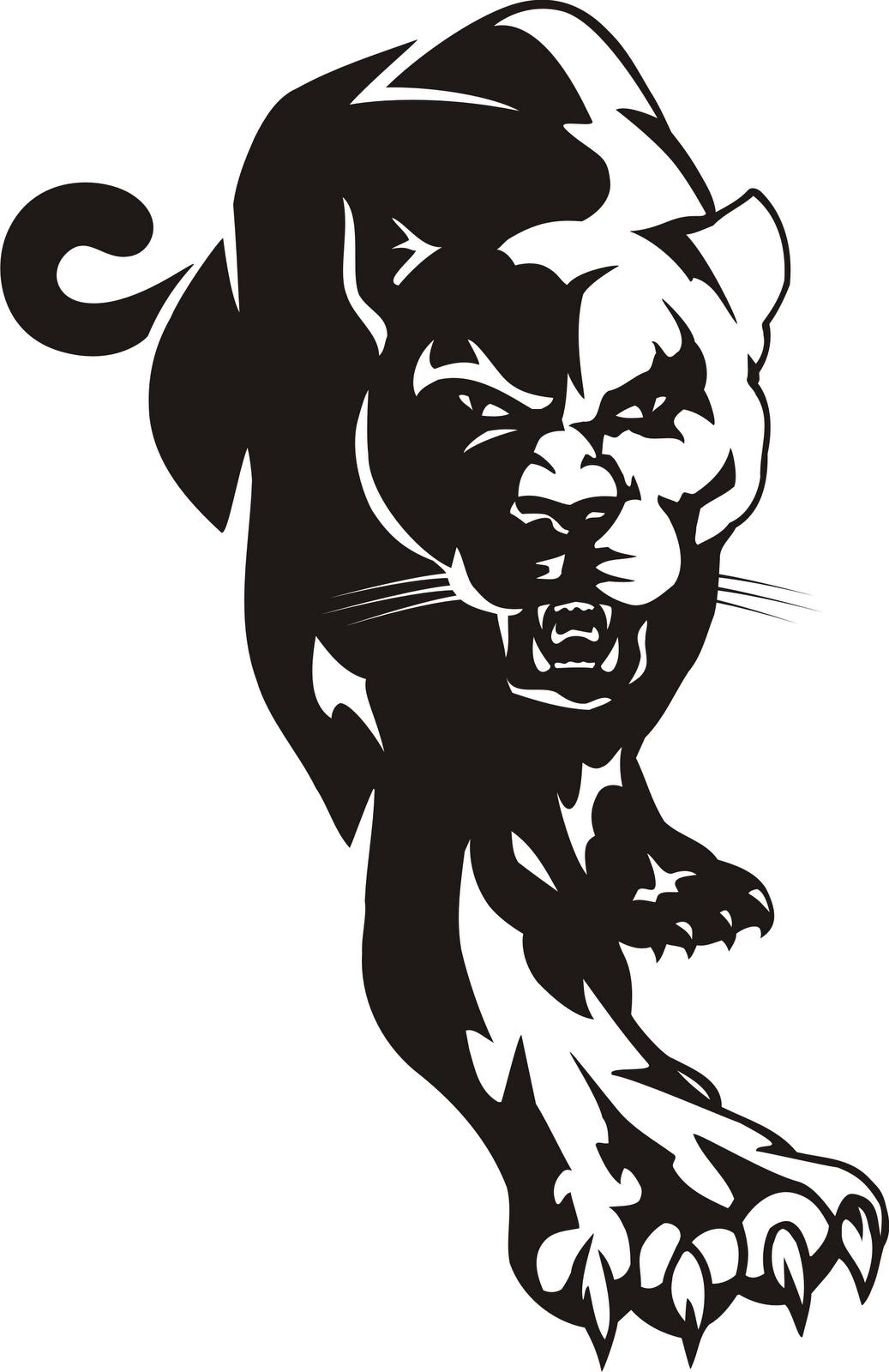 Panther Logo Clip Art Mas Cg 004 Art Drawings Panther Logo