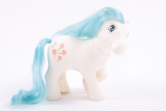 My Little Pony Italian Tootsie White Body Blue Hair Lollipop