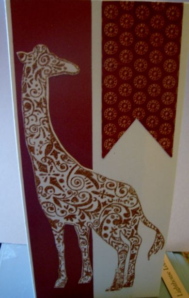 Door County Rubber Stamps   Giraffe